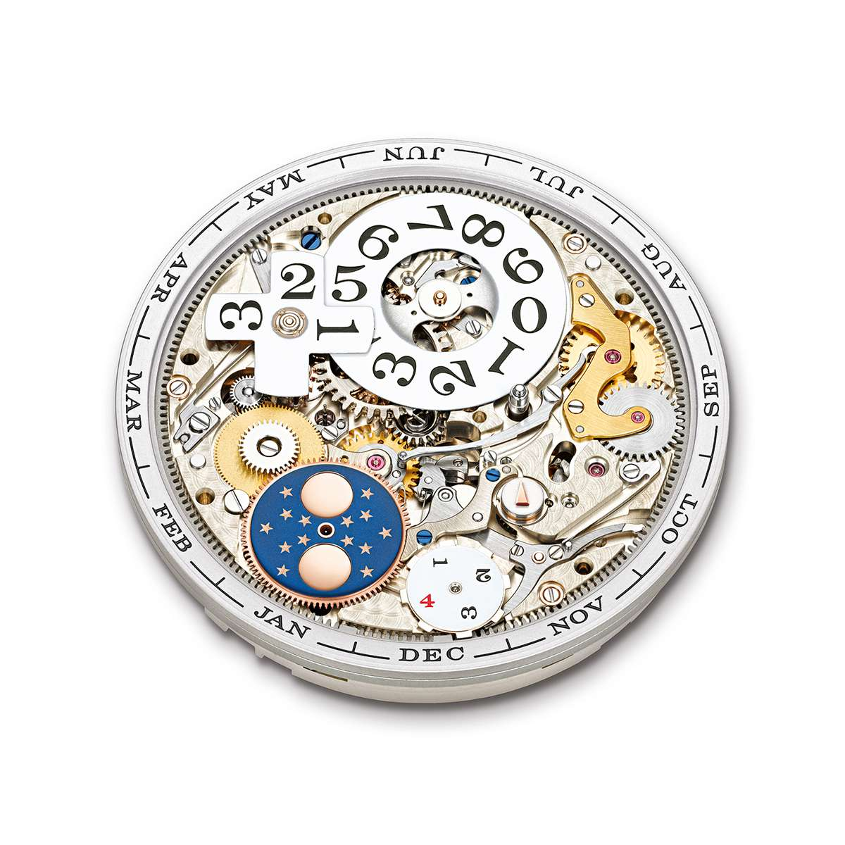 Front side of the L082 movement