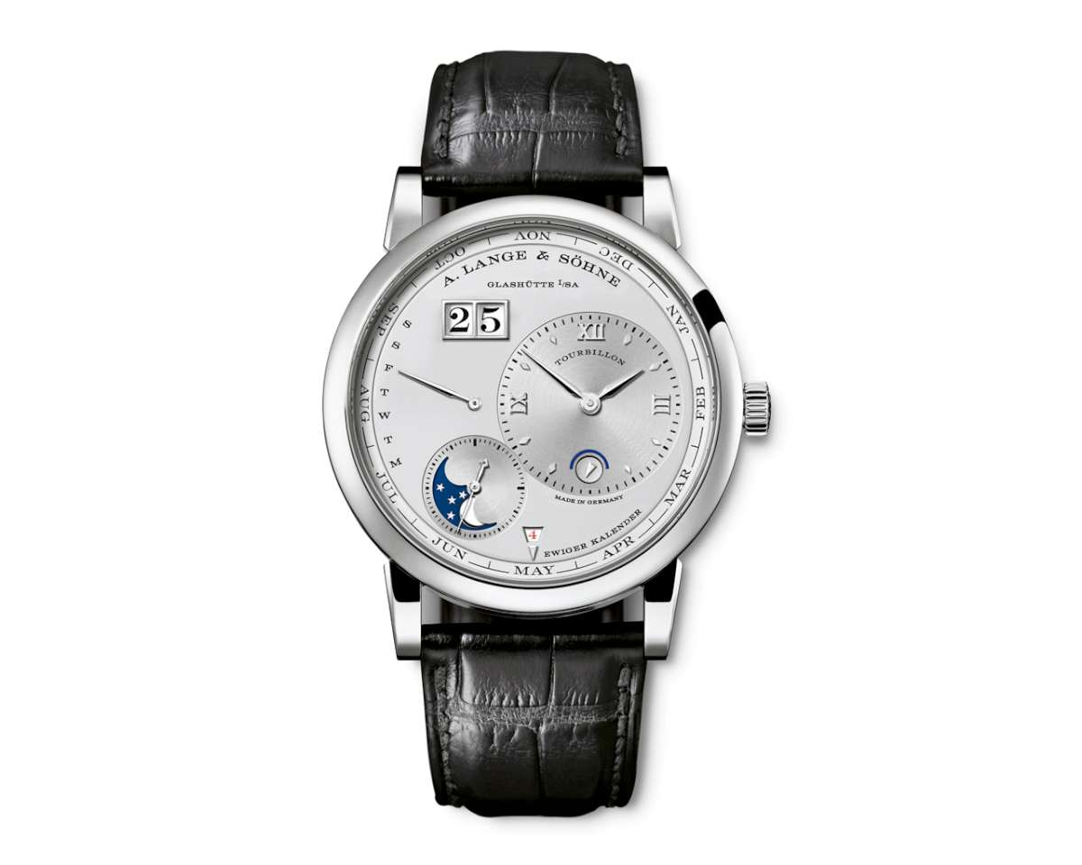 The platinum version of the Lange 1 Tourbillon Perpetual Calendar, Reference reference 720.025