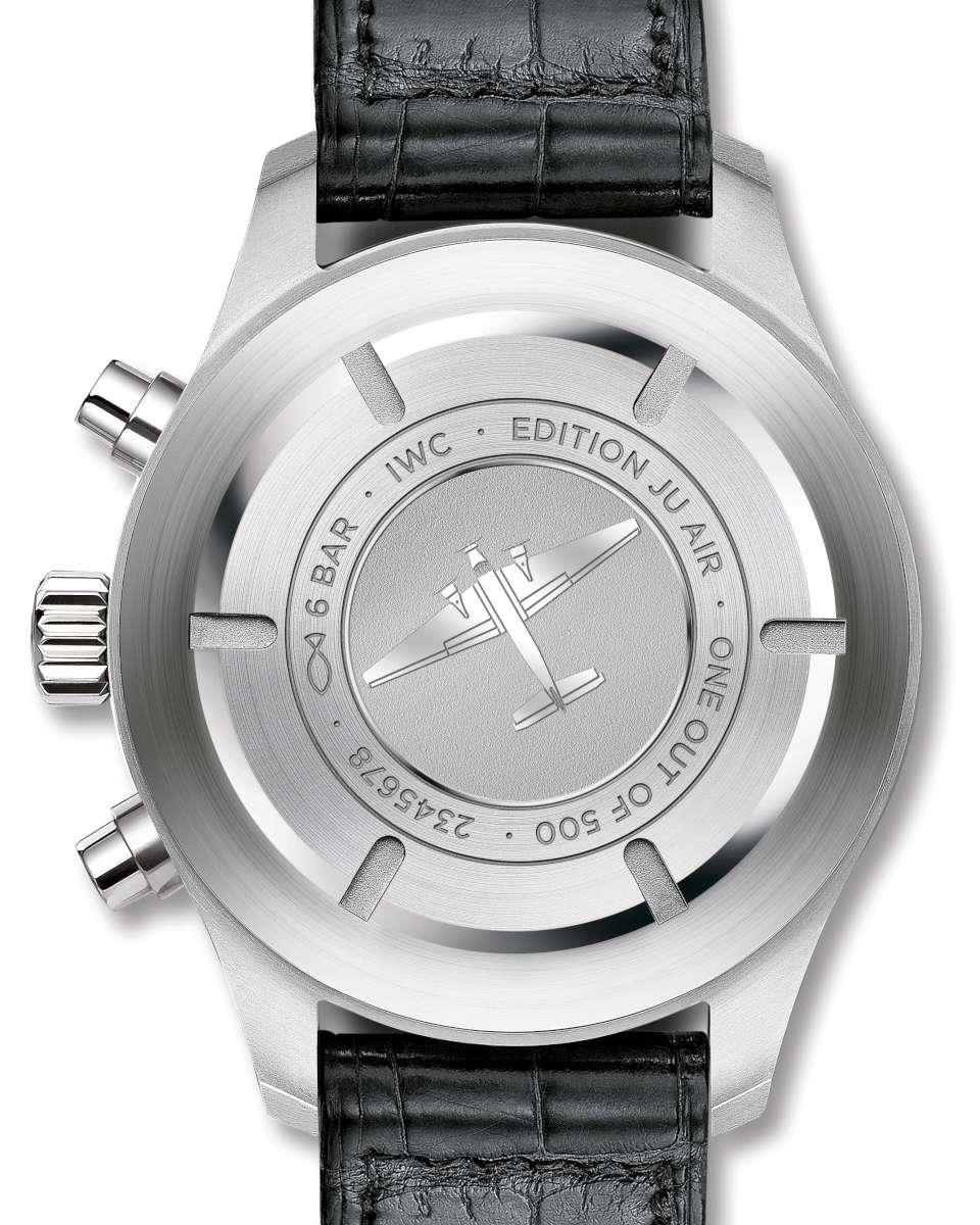 IWC Schaffhausen Pilot's Watch Chronograph Edition JU-Air, caseback