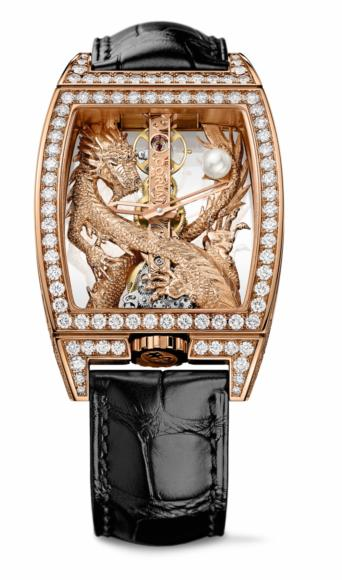Corum Golden Bridge Dragon, pink gold with brilliant-cut diamonds