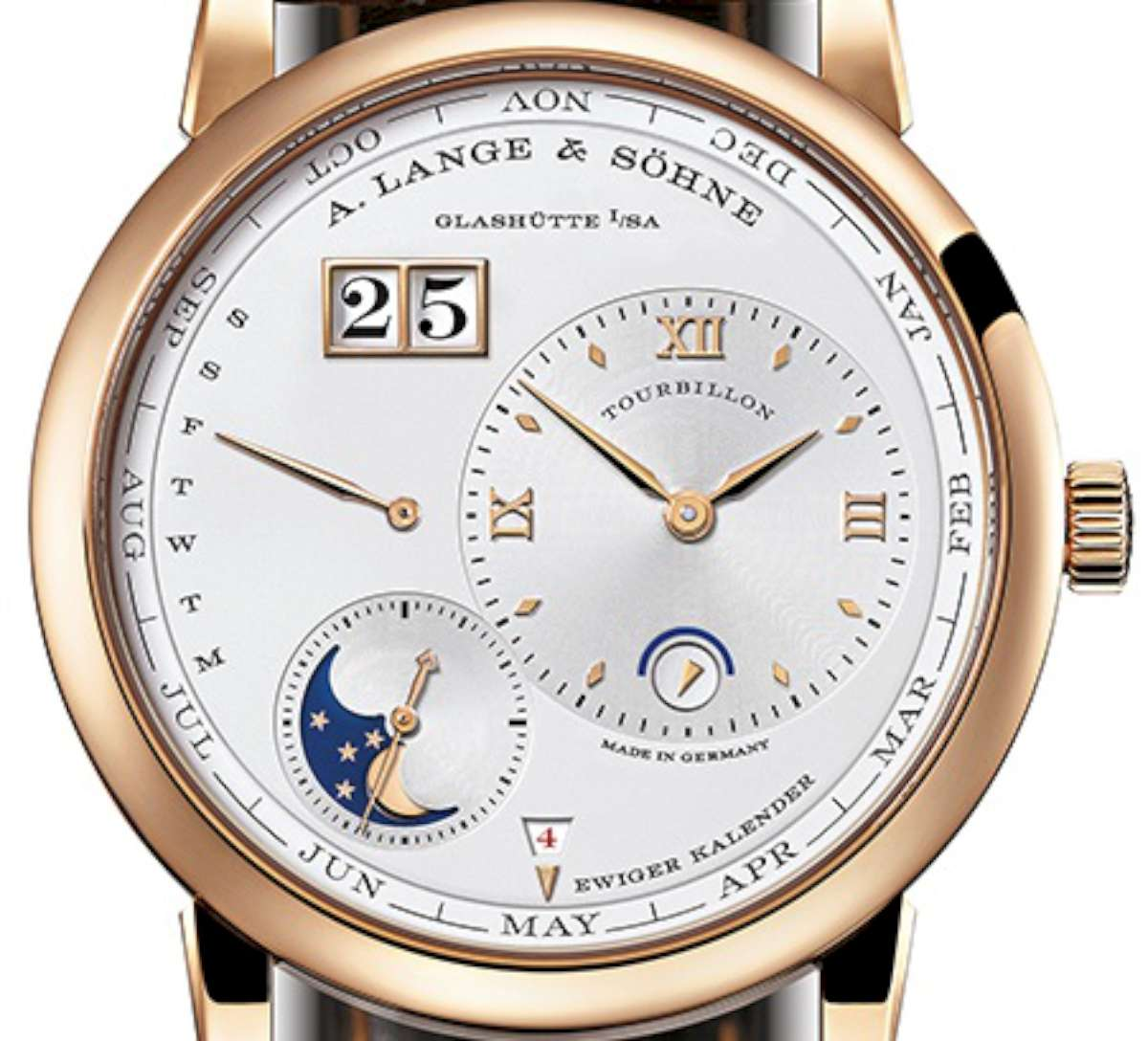 A. Lange & Söhne, Lange 1 Tourbillon Perpetual Calendar, Reference reference 720.032 in pink gold