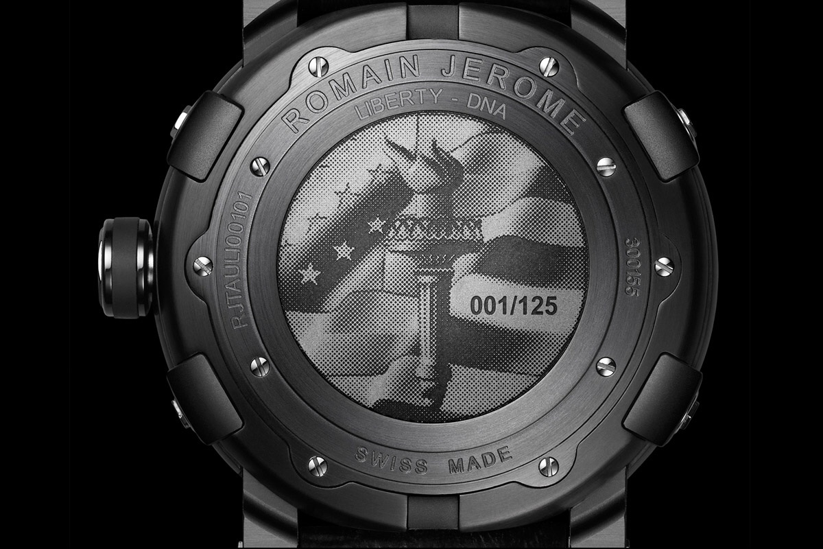 Reverse of the RJ-Romain Jerome Liberty-DNA Black