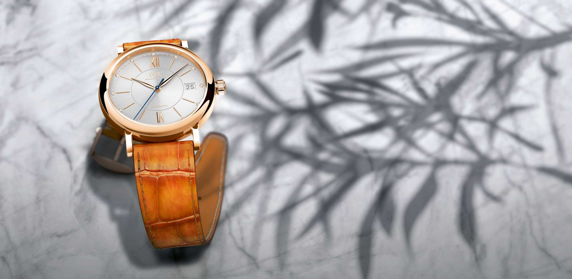 IWC Portofino Midsize Automatic , reference IW458105-2000, featuring the strap by Santoni