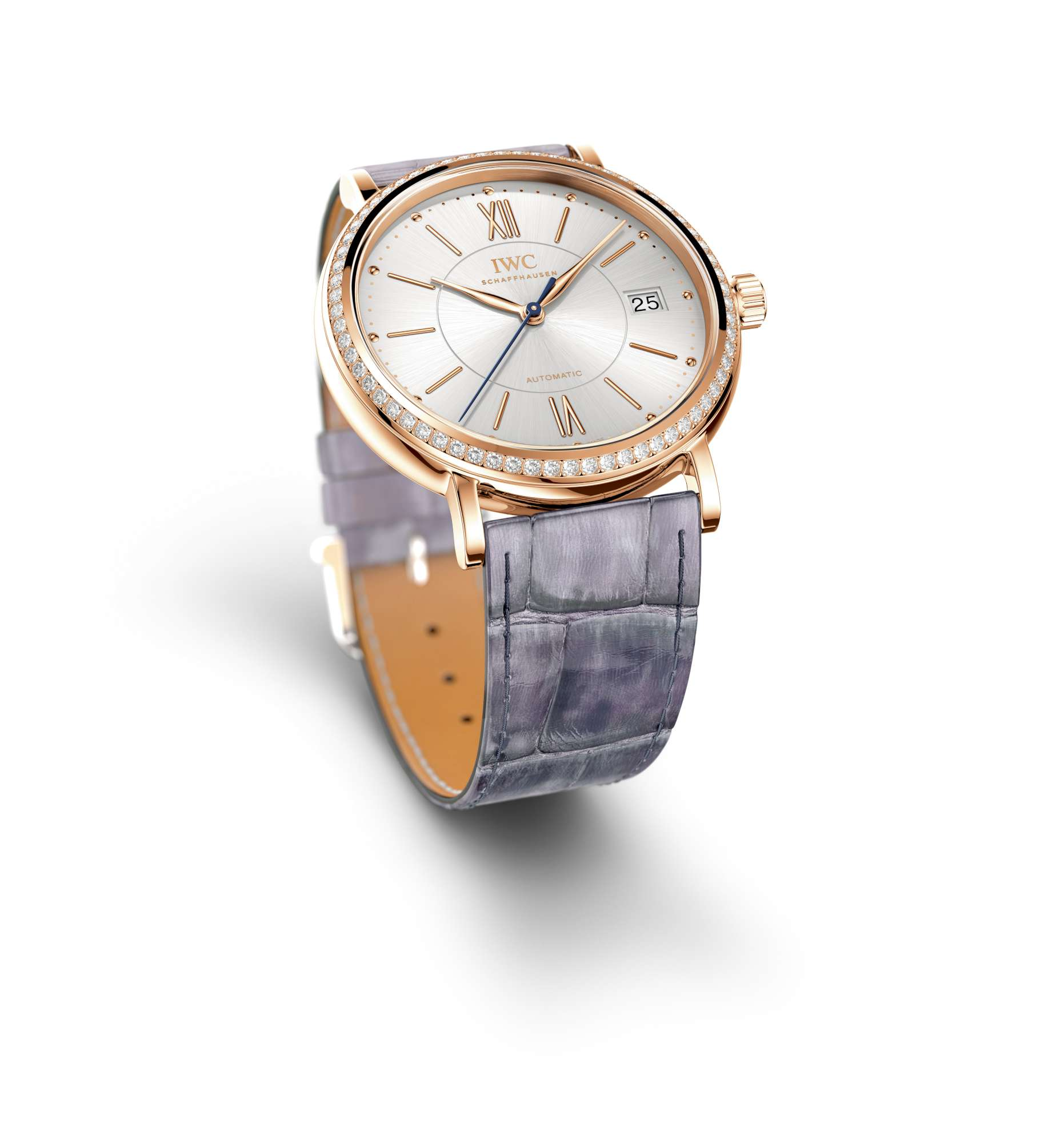 IWC Portofino Midsize Automatic , reference IW458107-2000, featuring the strap by Santoni