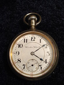 A 1905 Hamilton pocket watch