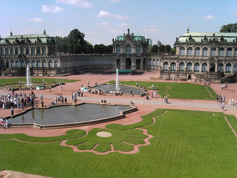 The Zwinger courtyard in Dresden, location of the Mathematisch-Physikalischer Salon, open Tues-Sun 10 a.m.-6 p.m., closed Mon