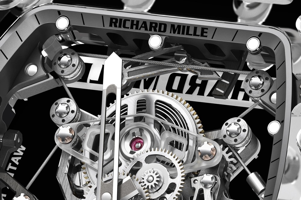 Detail of the Tourbillon RM56-02 Sapphire by Richard Mille