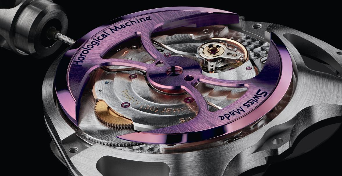 The movement with the oscillating weight