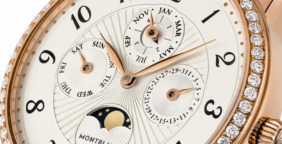 Montblanc Bohème Perpetual Calendar Jewellery, detail