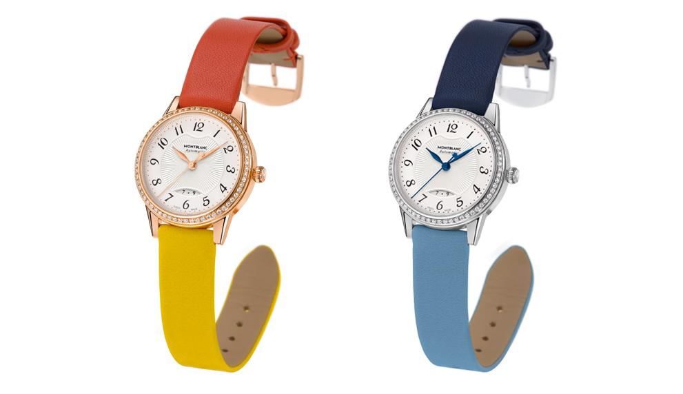 Montblanc Bohème Date Automatic, versions with two-colour straps