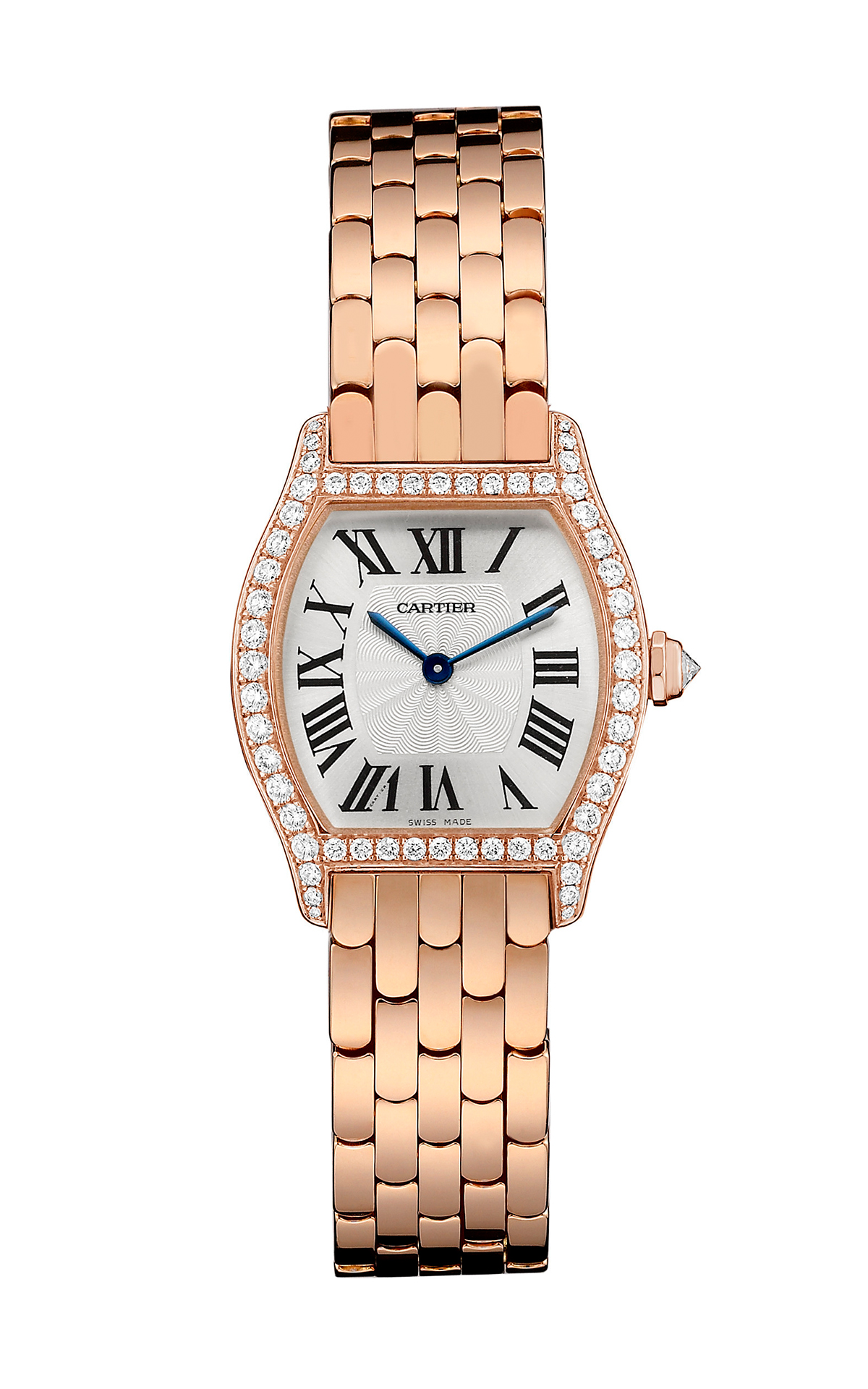 Tortue by Cartier, small version, pink gold and diamonds