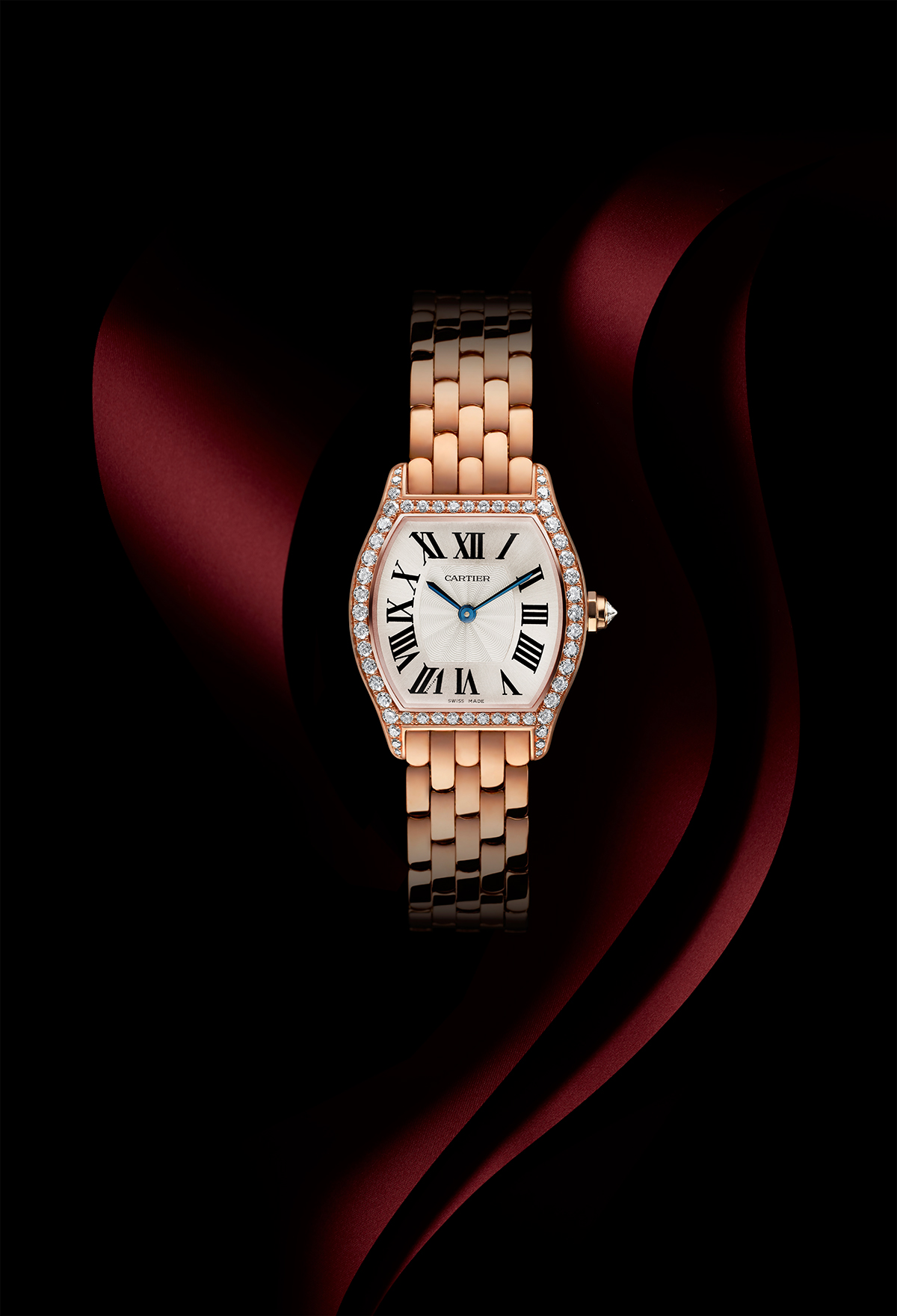 Tortue by Cartier, small, pink gold and diamonds