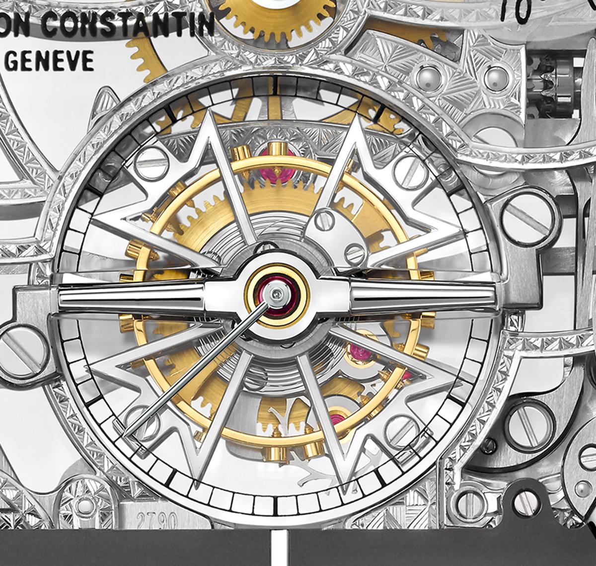 Malte Tourbillon Openworked, detail of the tourbillon