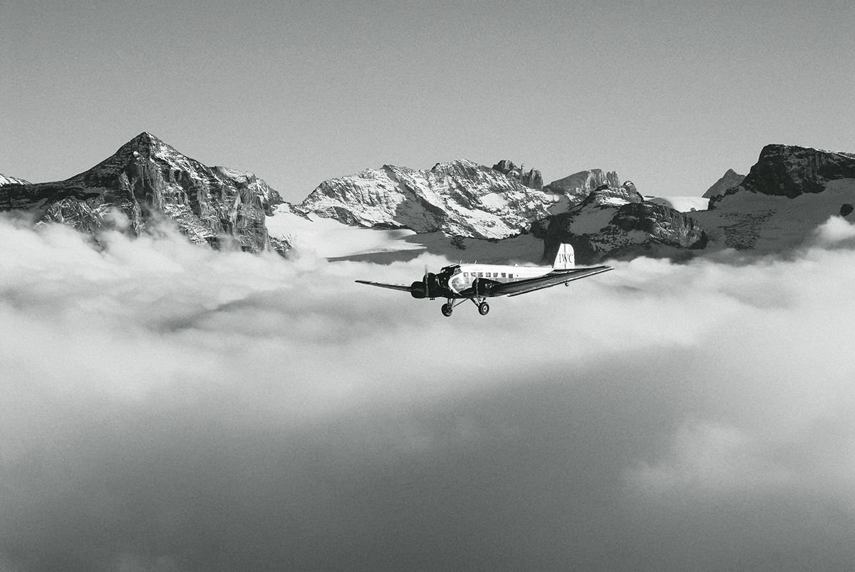 The IWC Ju-52 in flight, photo courtesy of IWC