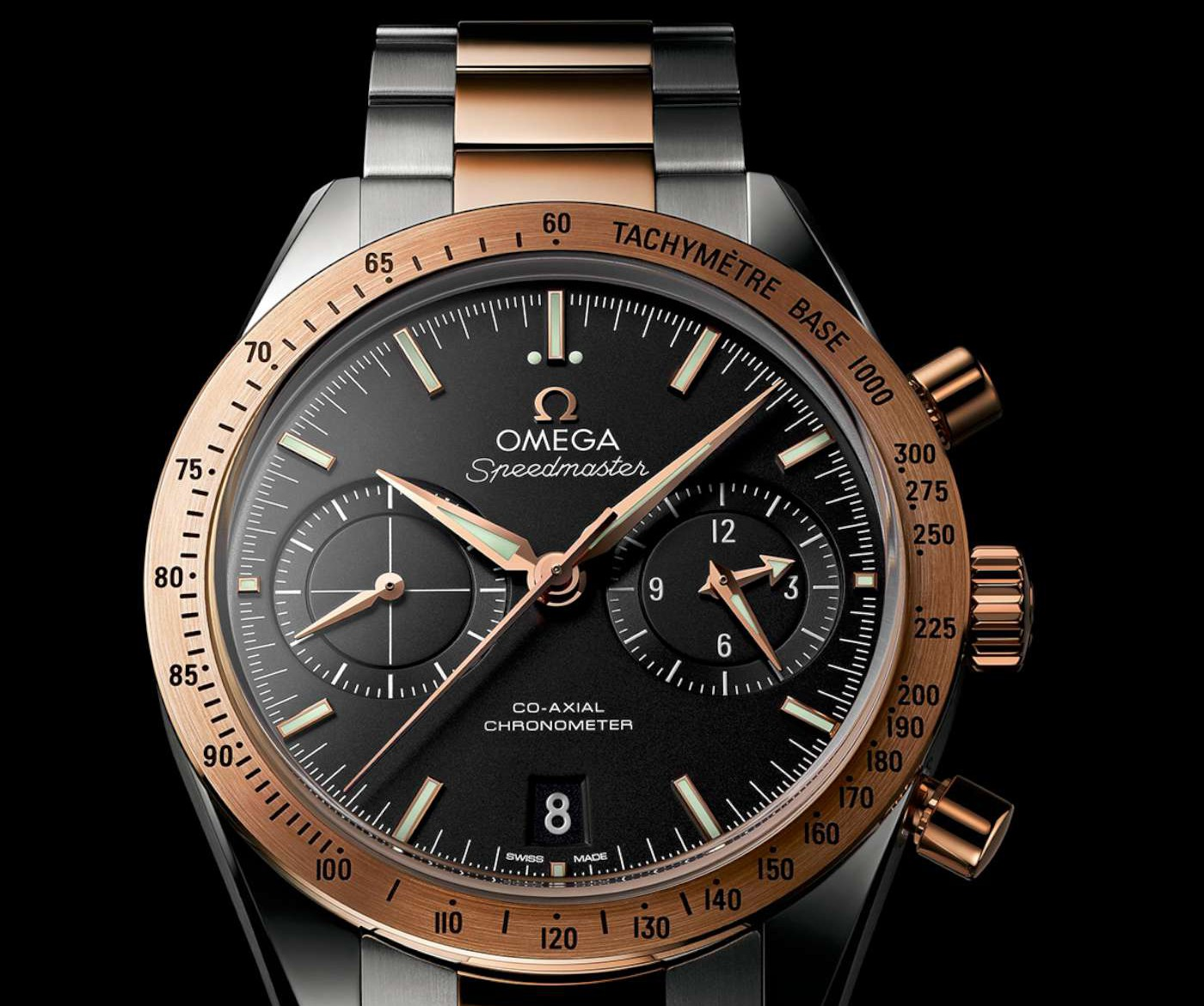the watches watch dial moonwatch chronograph side moon grey of speedmaster meteorite omega automatic s men