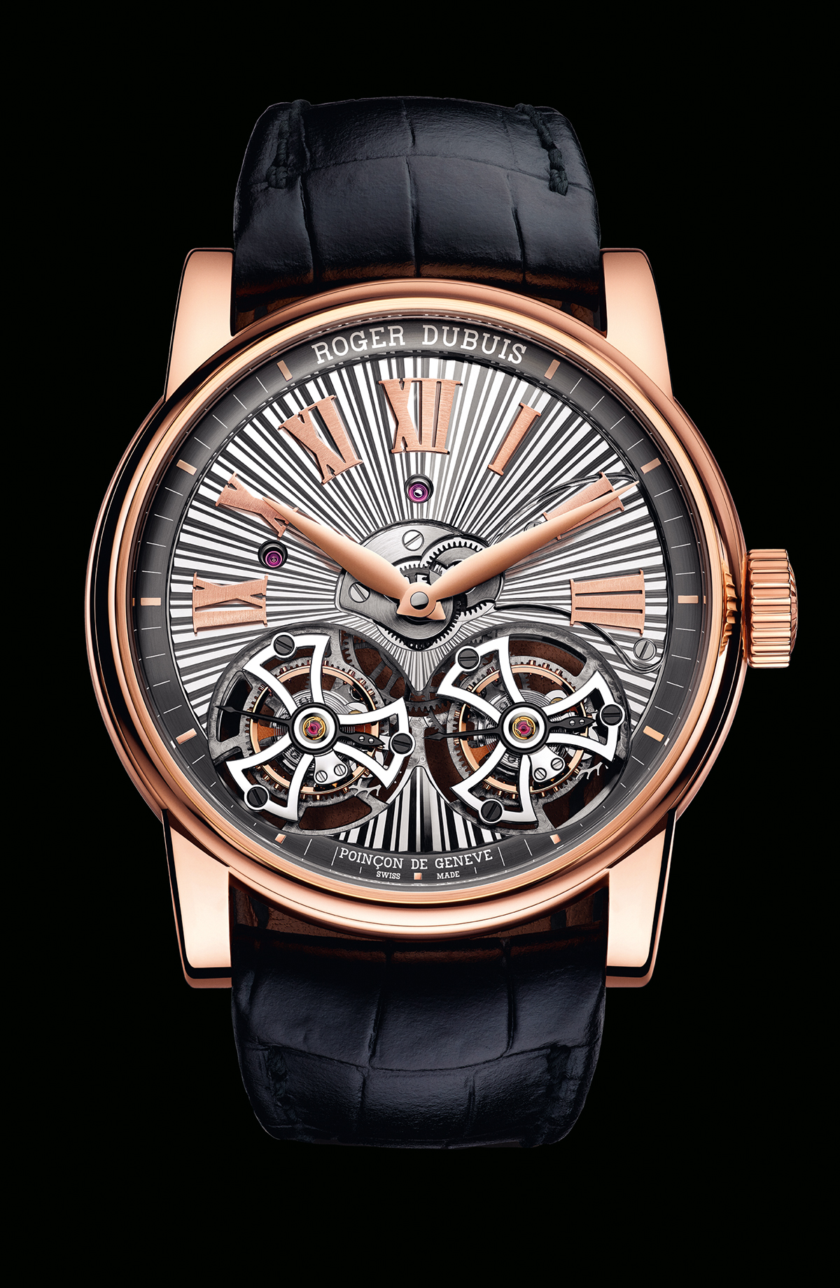 Hommage Double Flying Tourbillon in pink gold 2