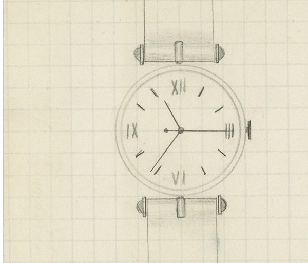 The original sketch of the watch