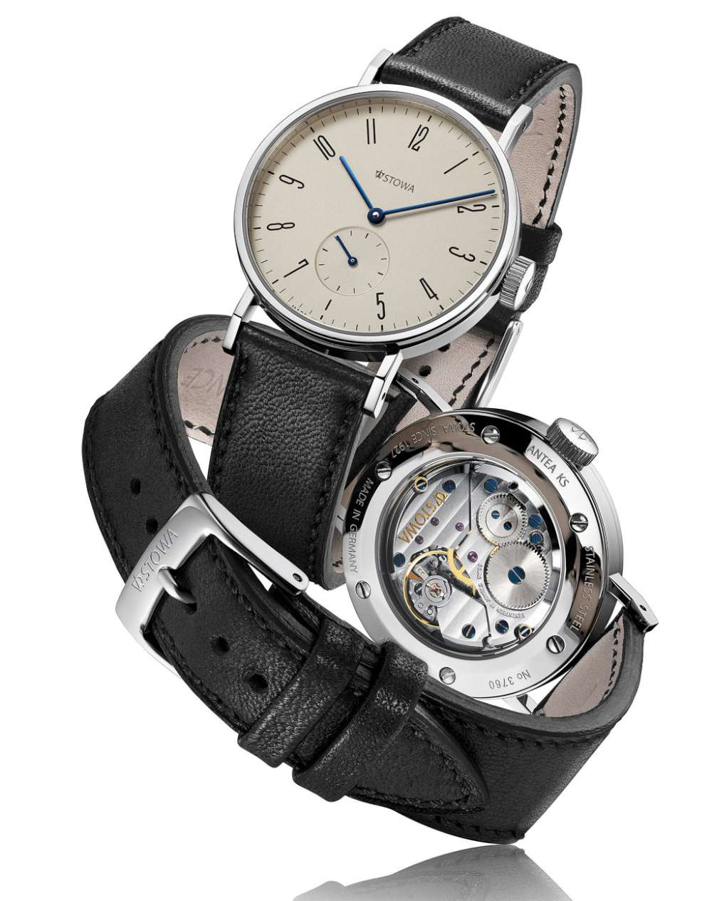 Stowa Antea Klassik KS dress watch front and back
