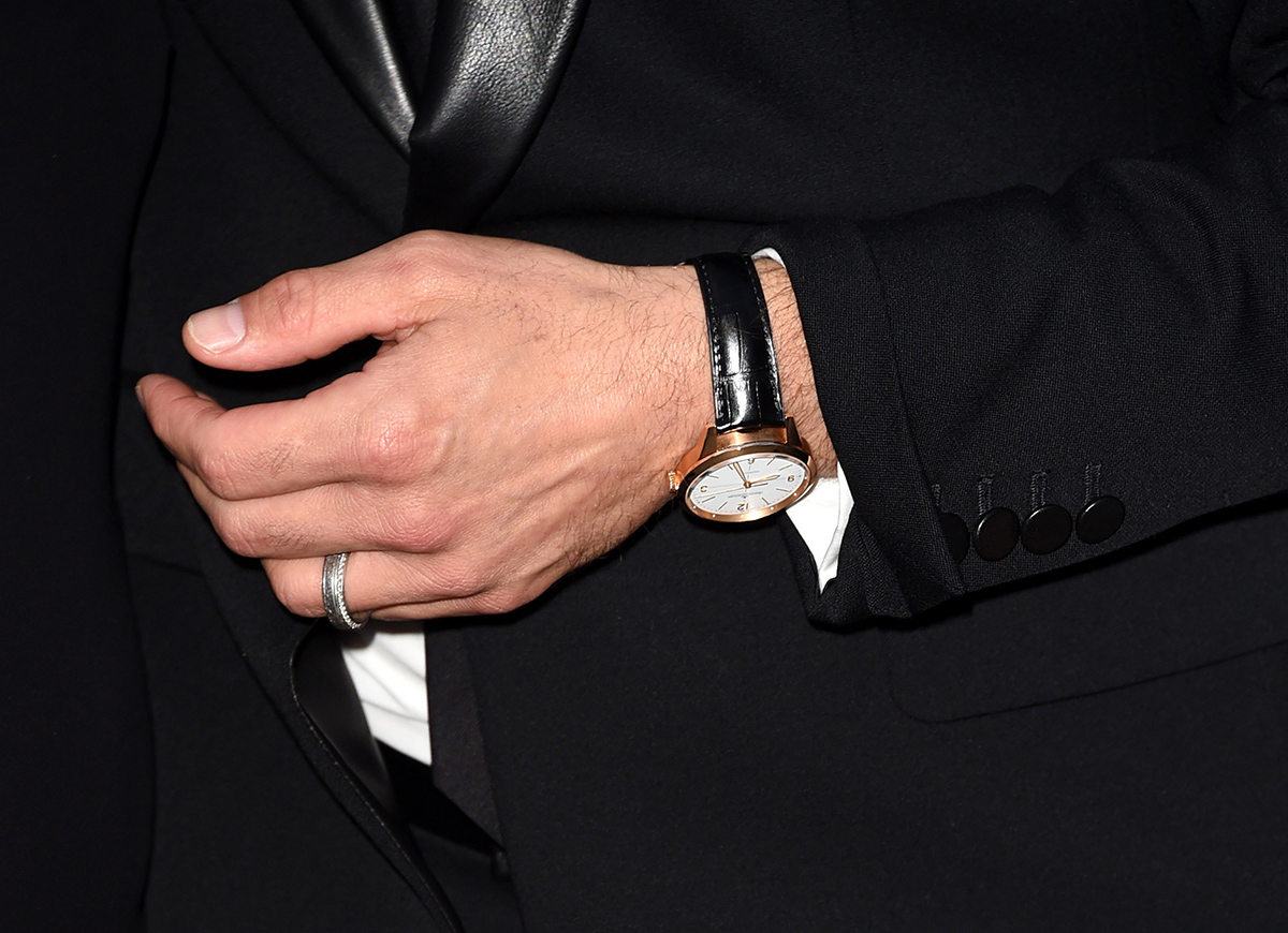"""Robert Downey Jr. wearing the Jaeger-LeCoultre Geophysic at the premier of """"The Judge"""" during the 2014 Toronto International Film Festival on 4 September  2014 in Toronto, Canada.  (Photo courtesy of Jason Merritt/Getty Images)"""