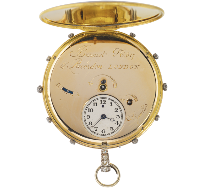 "A Breguet ""tact"" watch, about 1799, image courtesy of Musée du Louvre"