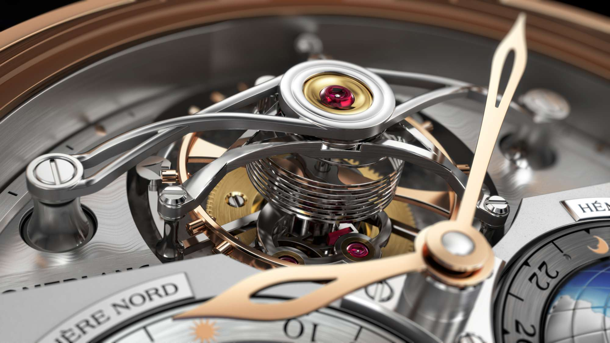 Montblanc Tourbillon Cylindrique Geosphères Vasco da Gama - Close-up Tourbillon 111675-2000