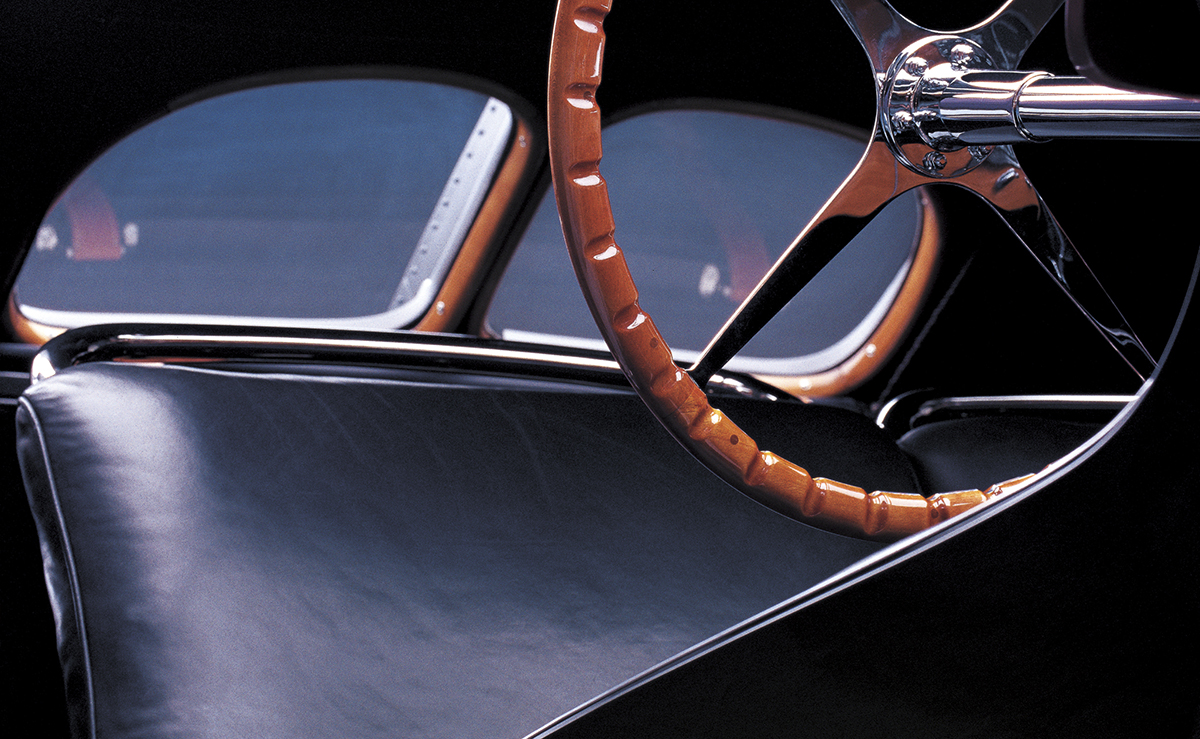 The 1938 Bugatti steering wheel, inspiration for these watches