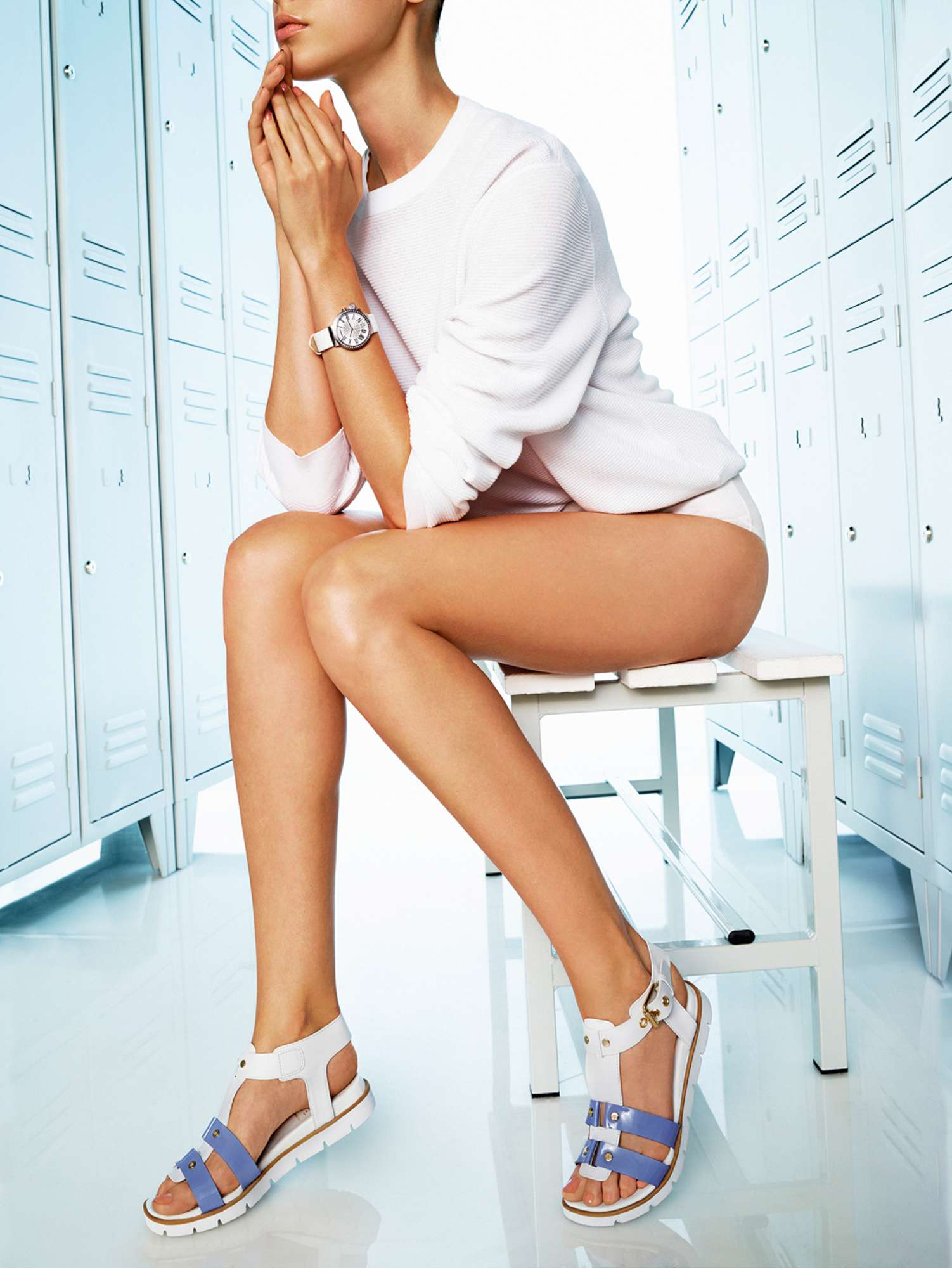 What are you looking at? The watch? The sandals? Baldinini spring/summer 2015 campaign