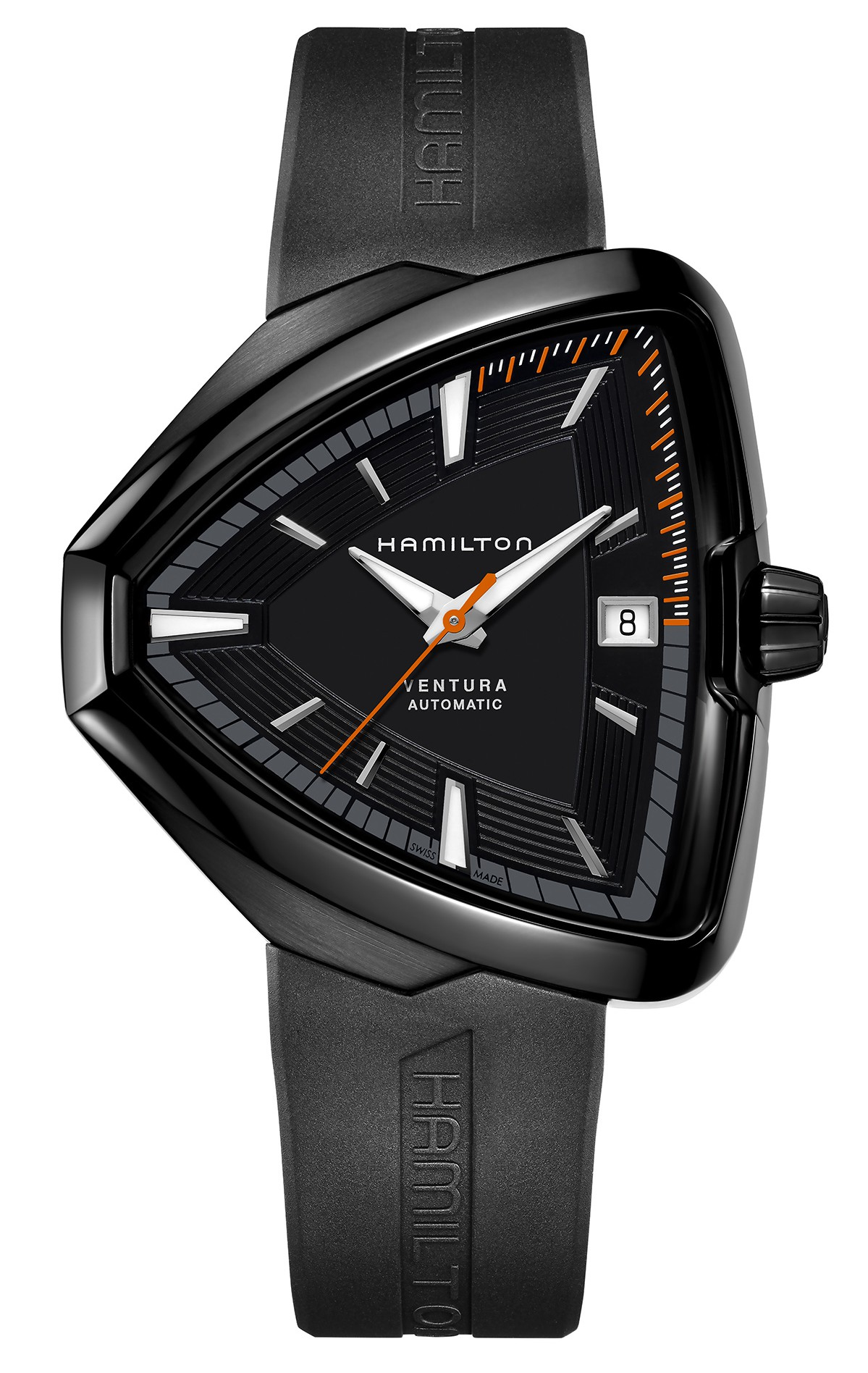 The Hamilton Ventura Automatic, black PVD coated.