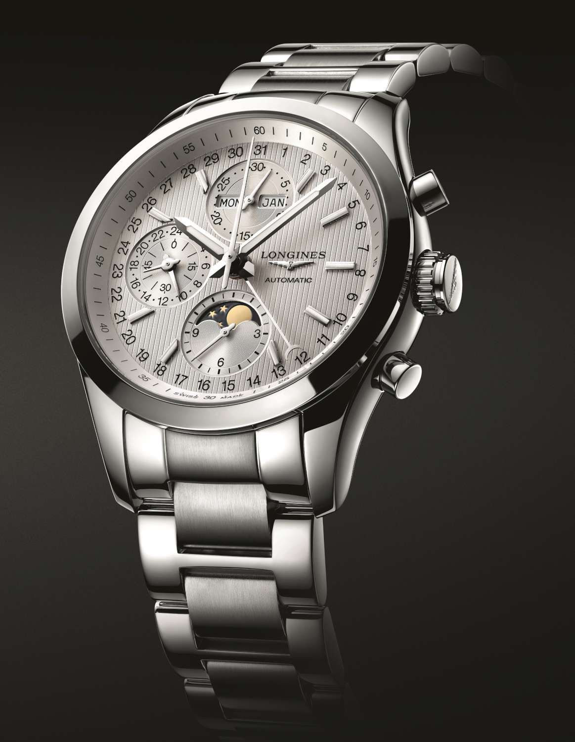 Longines Classic Moonphase, steel case and bracelet, L2.798.4.72.6, €2,700