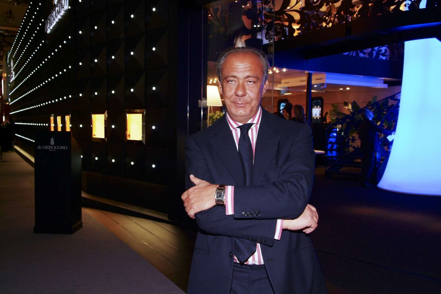 Fawaz Gruosi at Baselworld, photo courtesy of Johann Sauty/de Grisogono