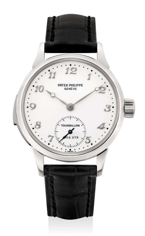 Lot 139_Patek Philippe platinum tourbillon wristwatch ref. no. 393-1500