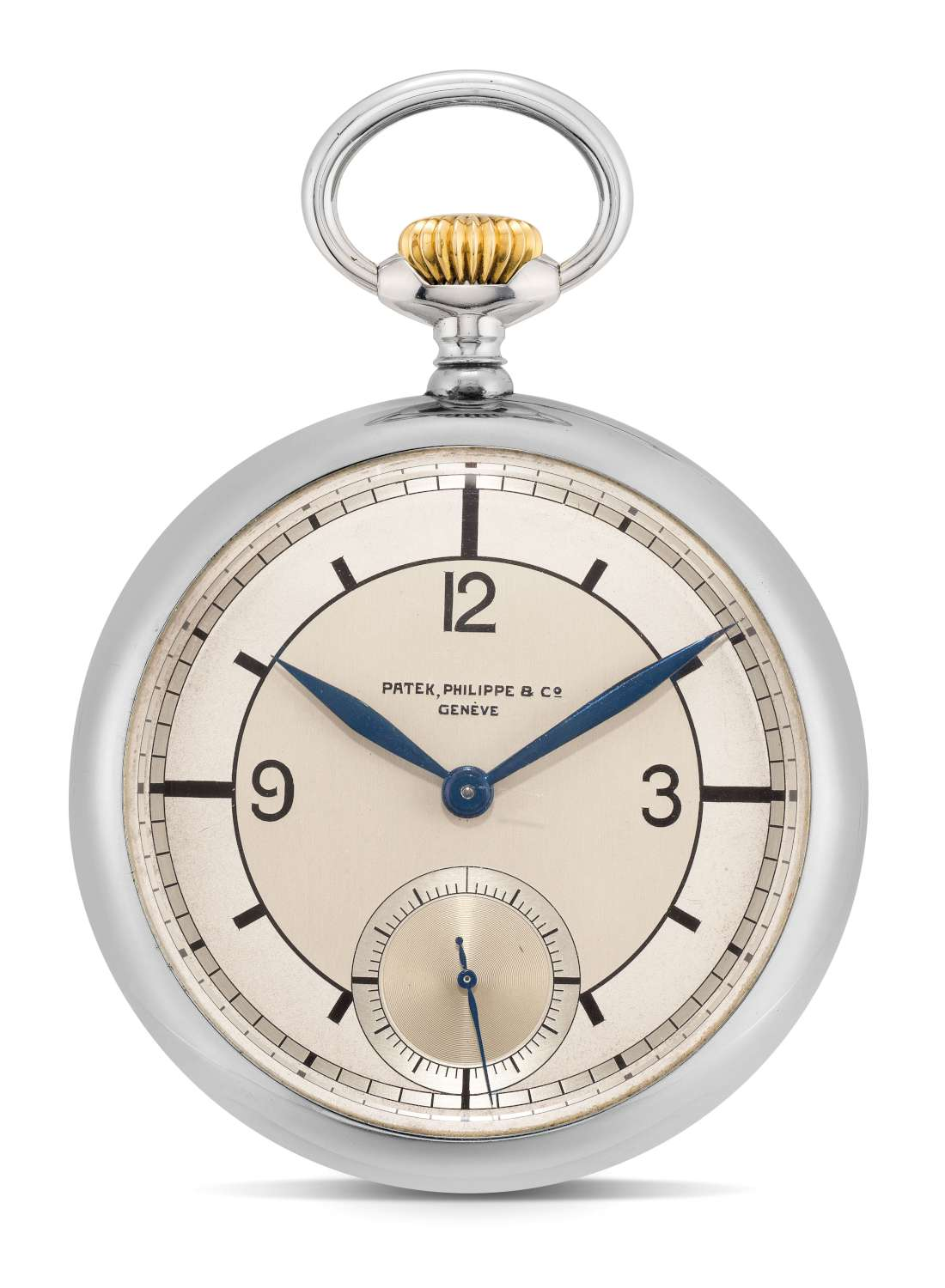 Lot 315_Patek Philippe stainless steel openface watch with one minute tourbillon regulator-1500