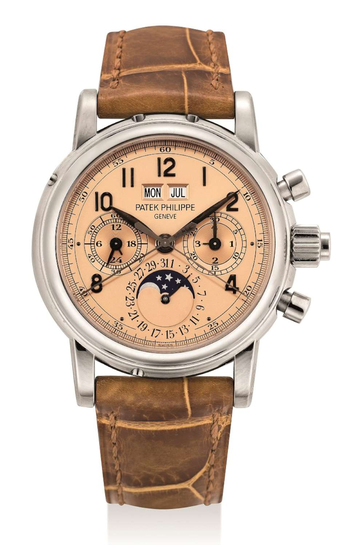 Lot 344_Patek Philippe white gold perpetual calendar split seconds chronograph wristwatch ref. no. 5004-1500