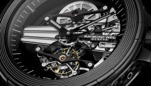 Detail of the Raymond Weil Nabucco Cello Tourbillon watch