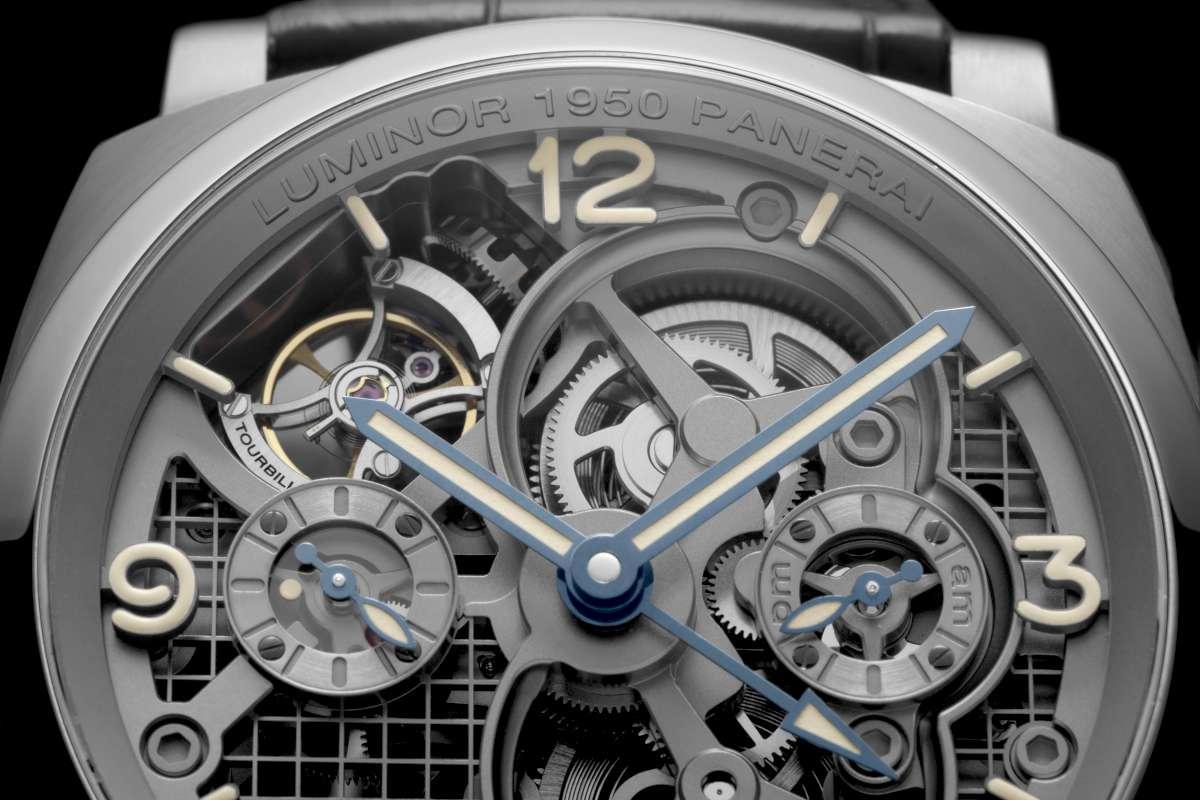 Panerai Lo Scienziato Luminor 1950 Tourbillon GMT Titanio 47mm