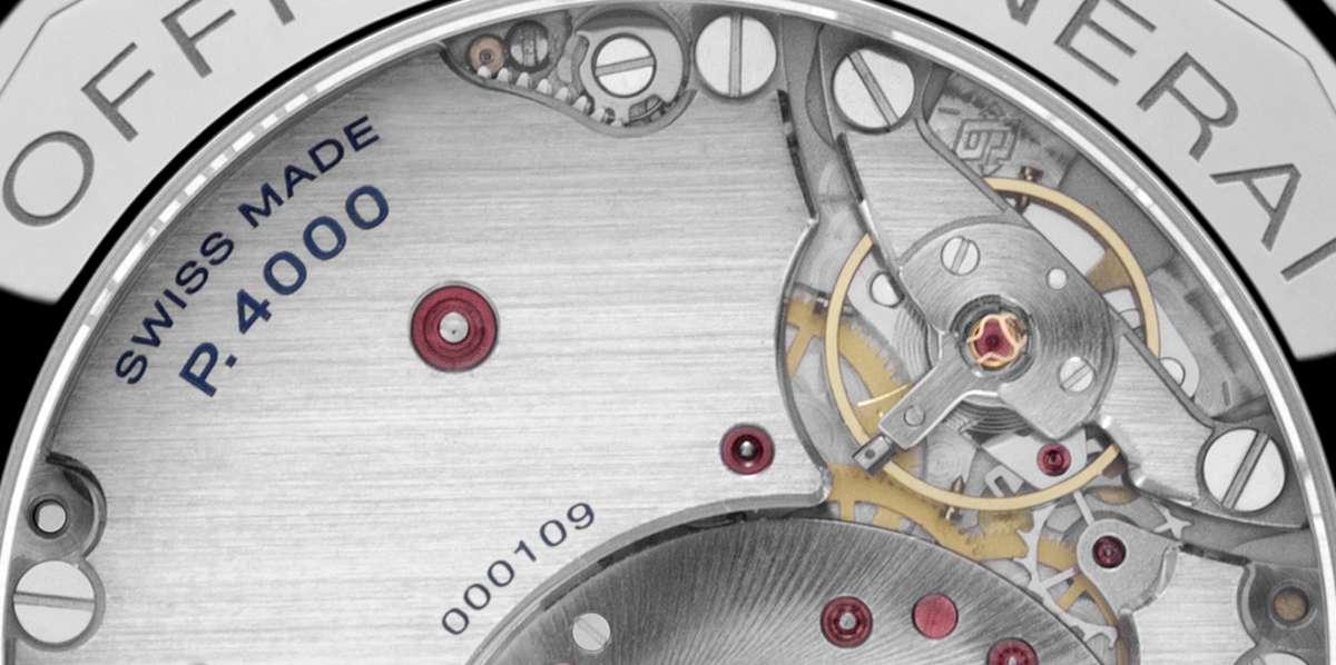 Panerai Radiomir 1940 3 Days Automatico Acciaio PAM00655 movement detail