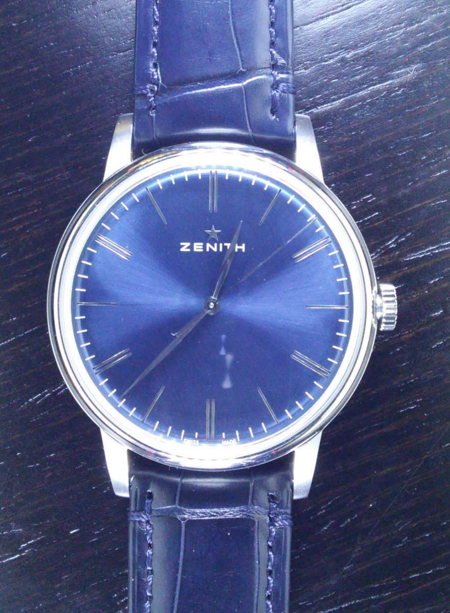 Zenith Elite 6150, stainless steel