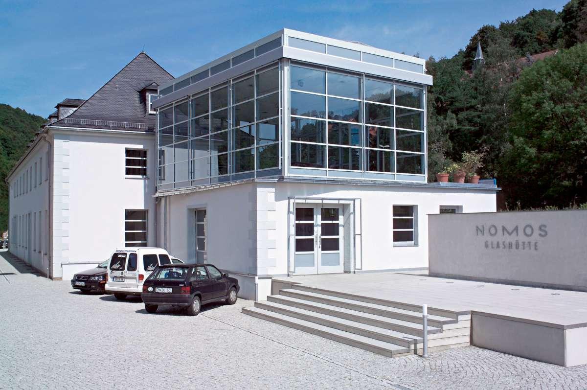 NOMOS Glashütte, the Train Station building