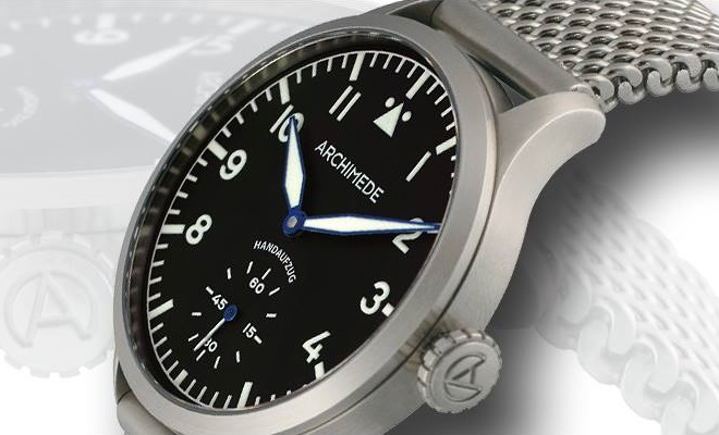 Archimede Pilot 45 Hand Wound