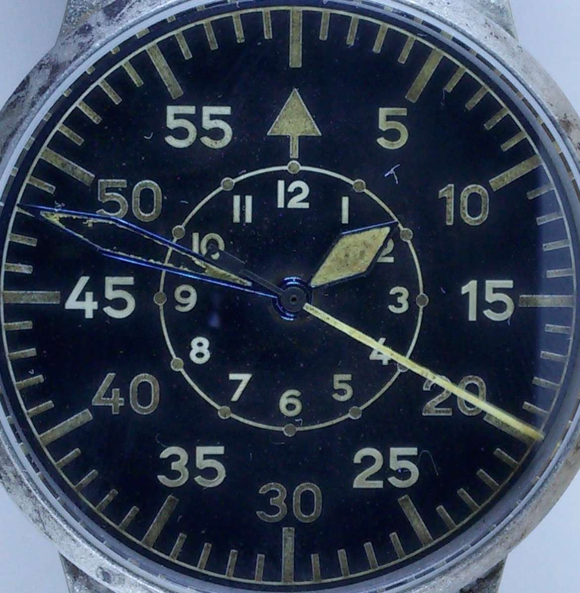 Laco Flieger Heritage 42 dial detail