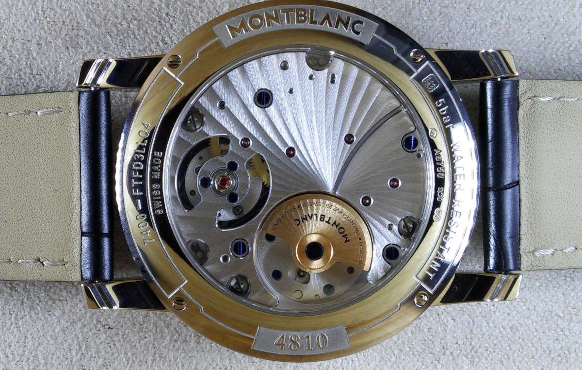 Montblanc 4810 ExoTourbillon Slim 110 Years Edition Europe, reference 115072, caseback