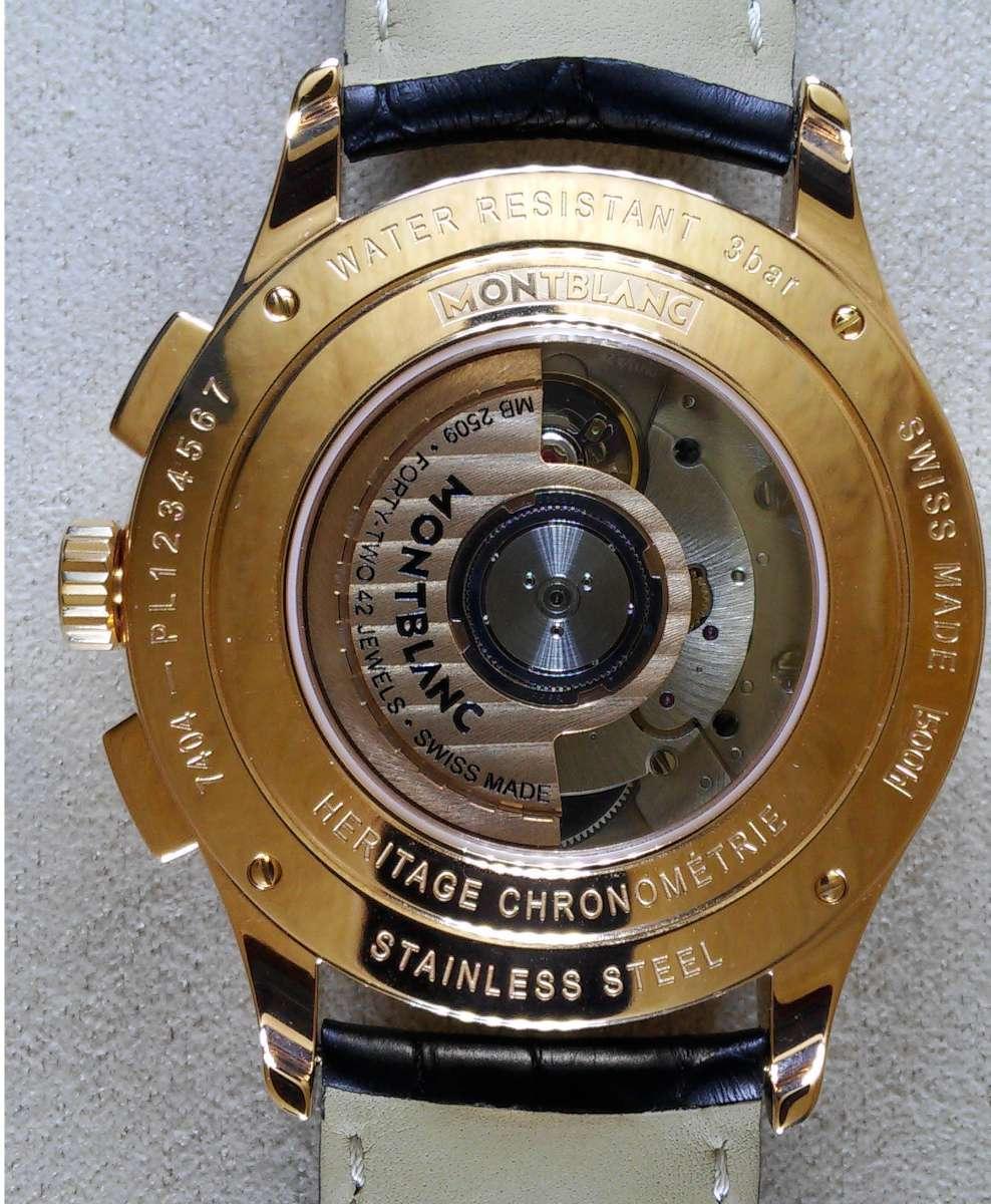 Montblanc Heritage Chronométrie Chronograph Quantième Annuel caseback