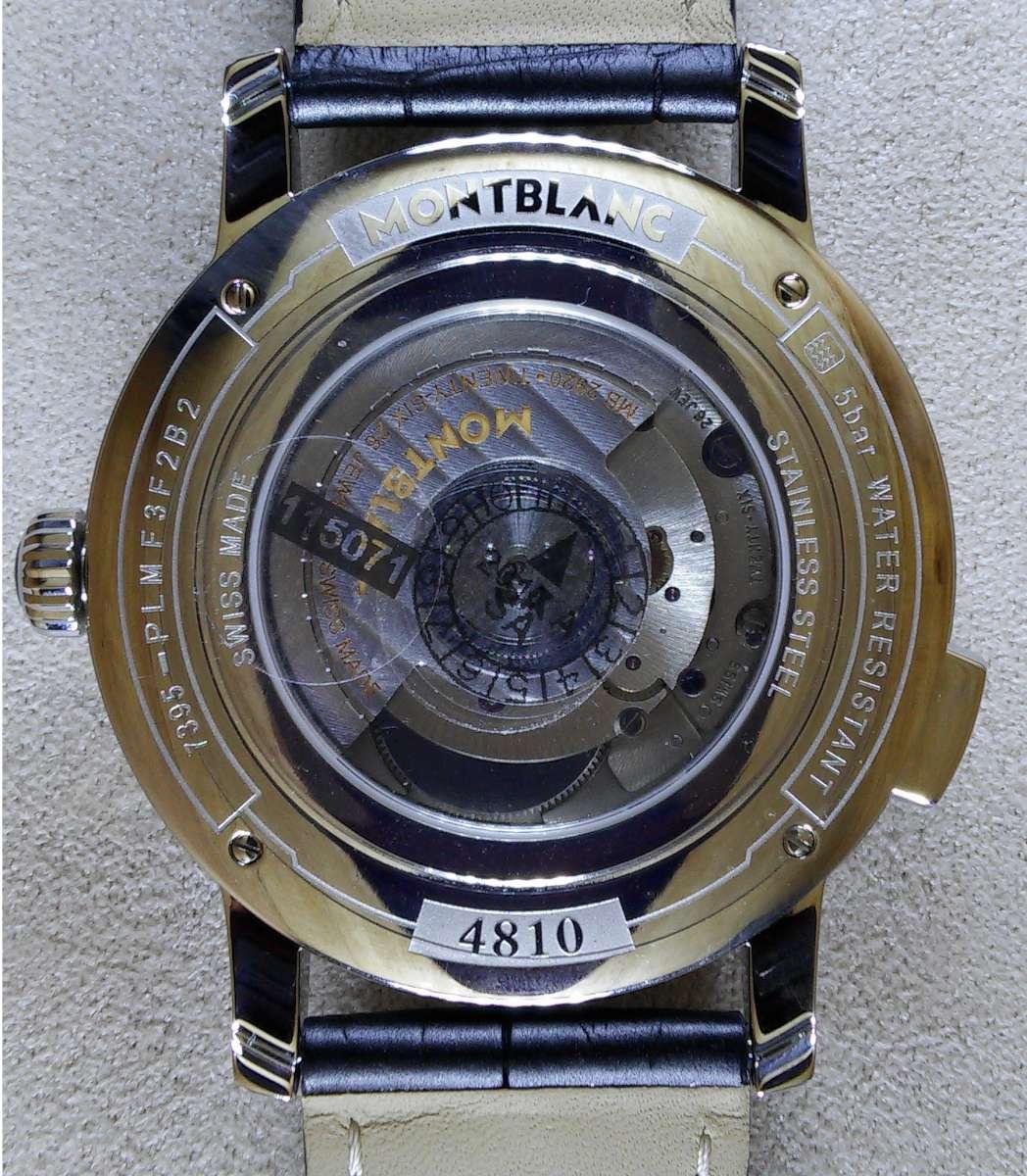 Montblanc 4810 Orbis Terrarum, reference 115071 caseback