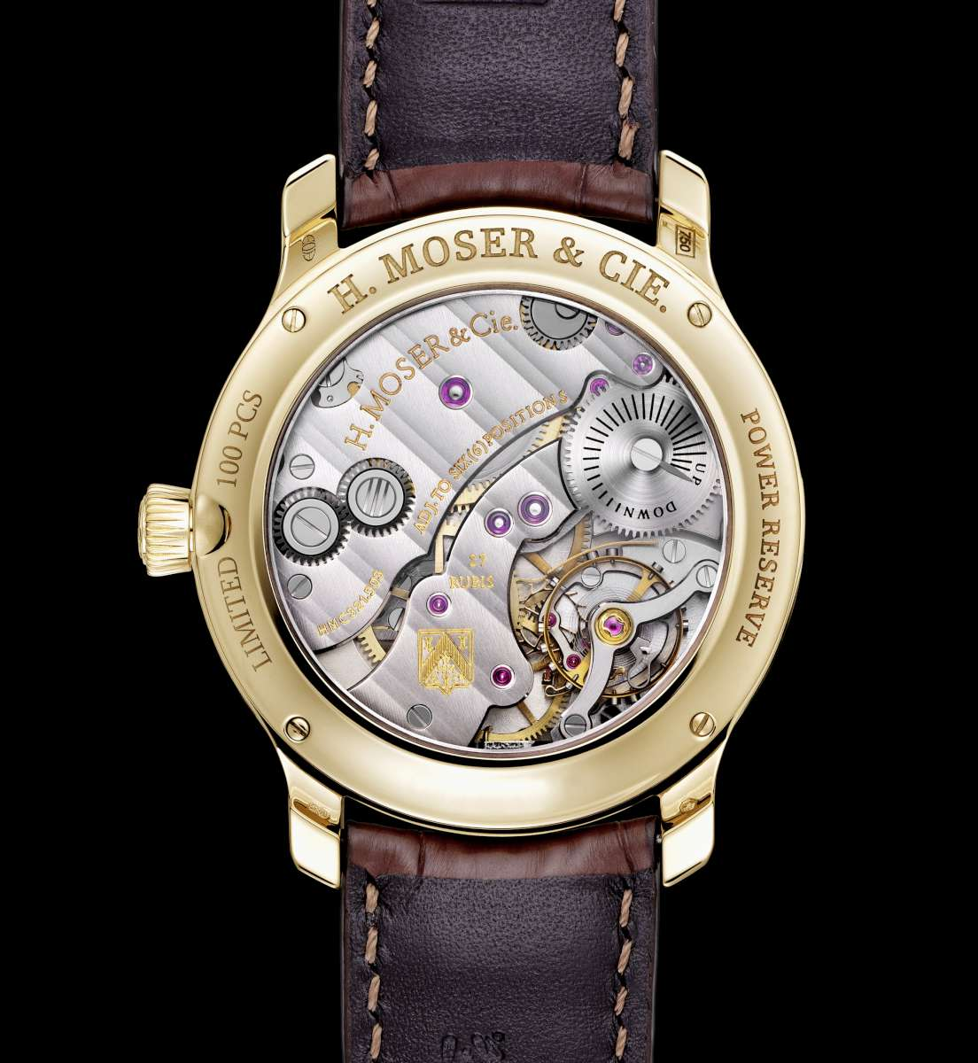 H. Moser & Cie Endeavour Small Seconds Bryan Ferry caseback