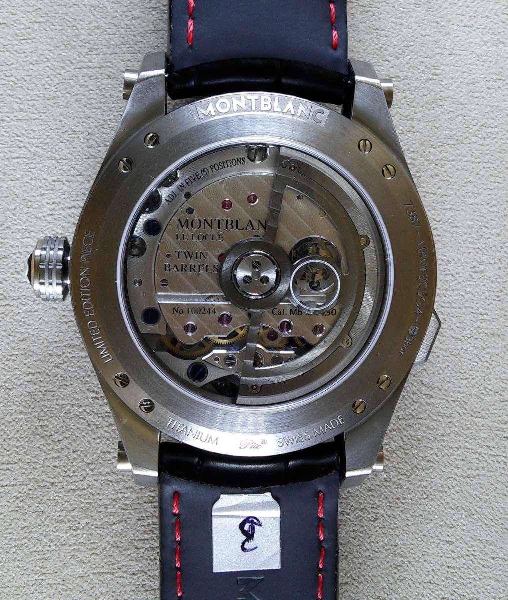 Montblanc TimeWalker ExoTourbillon Minute Chronograph caseback