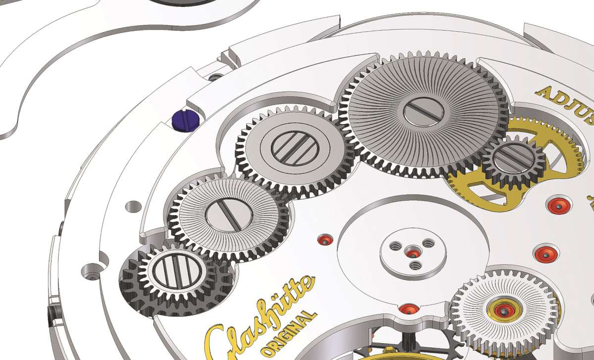 Glashutte Original Calibre 36, winding train