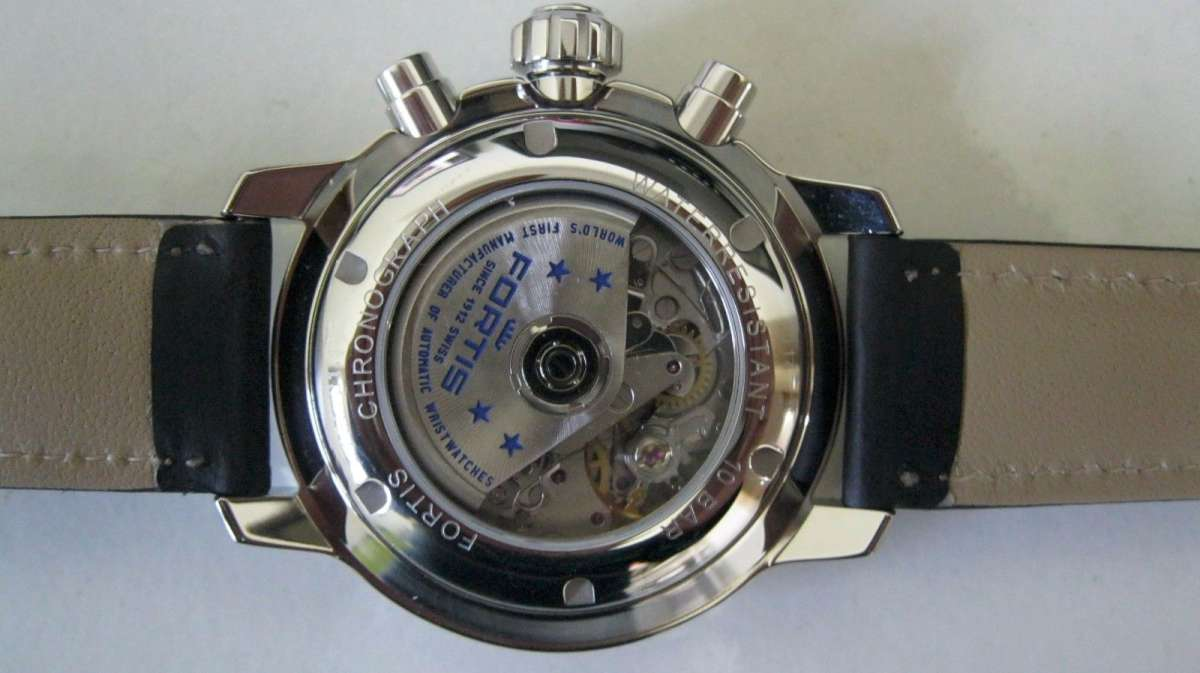 Fortis Flieger Professional Chronograph reference 705.21.11 caseback