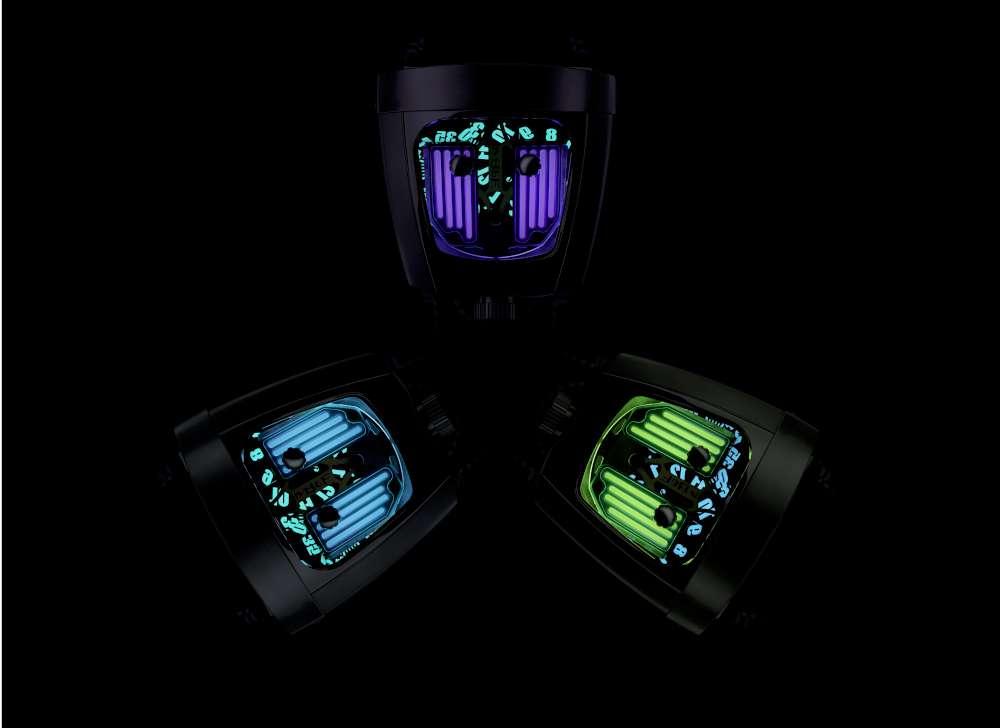 MB&F HMX Black Badger, three versions