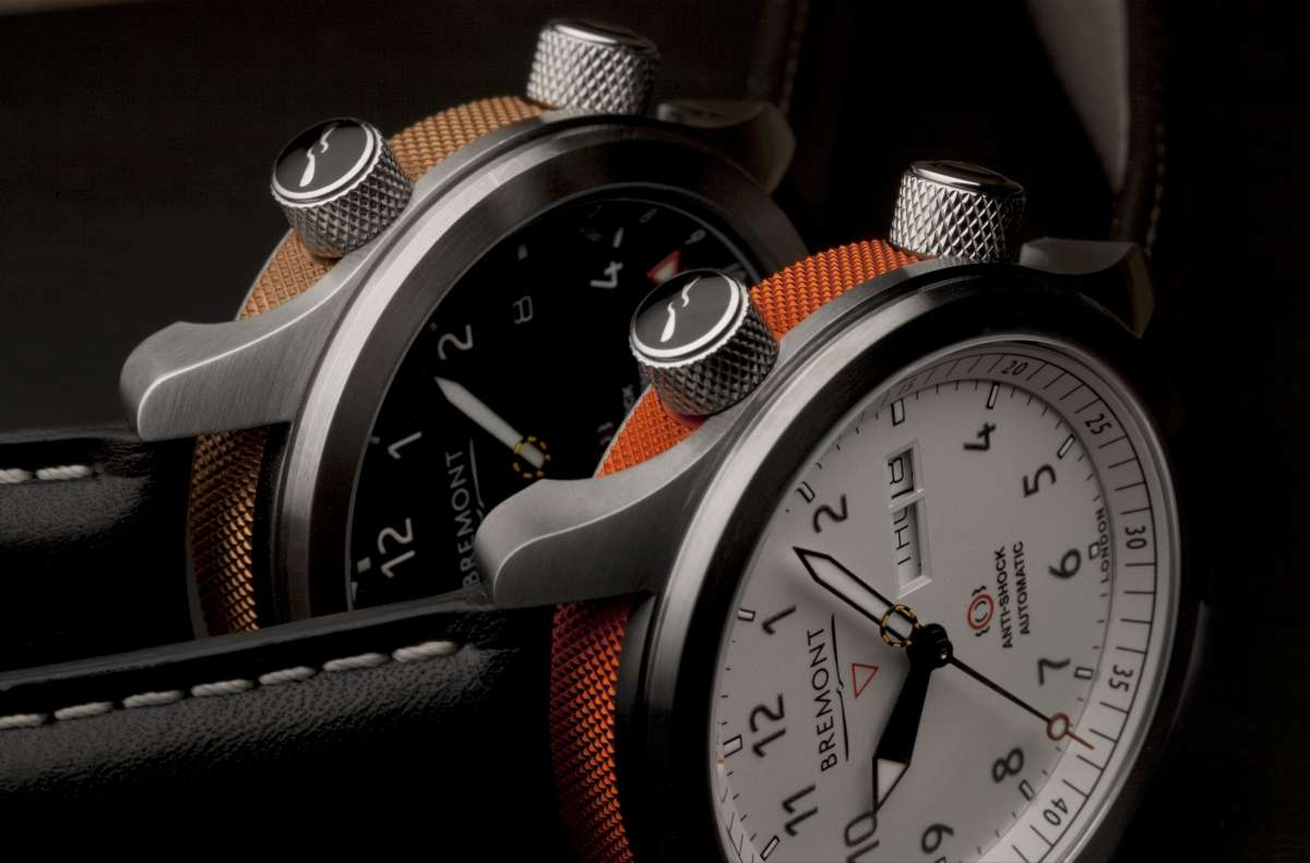 Bremont MBII White, MBII with black dial behind