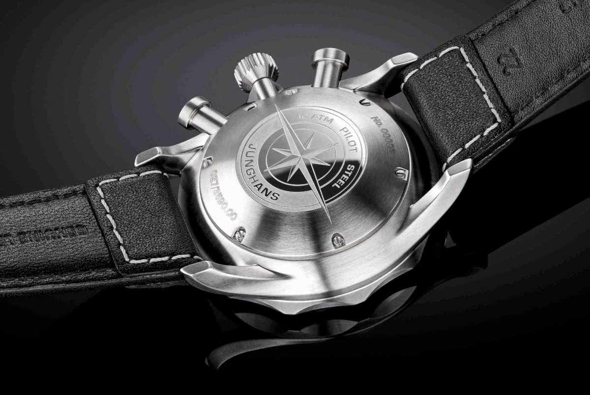 Junghans Meister Pilot stainless steel caseback
